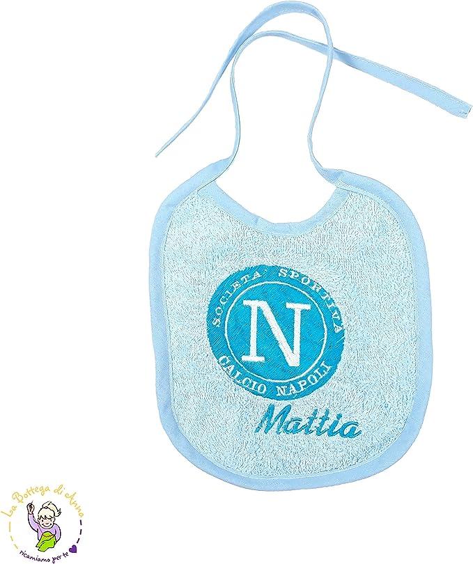 Babero de rizo de algodón con cordones del Nápoles personalizado ...