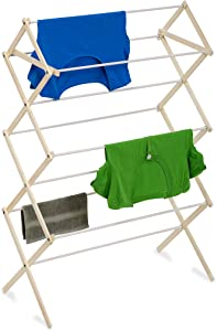 Honey-Can-Do DRY-01168 Indoor Wood Folding Clothes Drying Rack