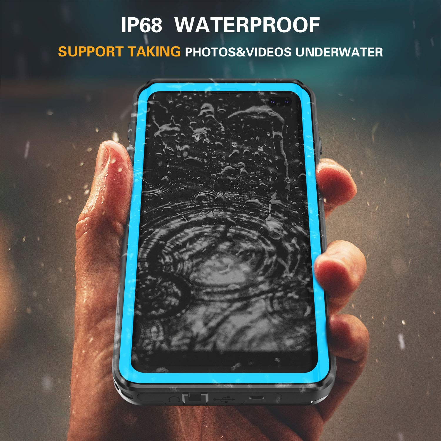 S10 Plus Case Built in Screen Protector 360 Full Body Protective ...