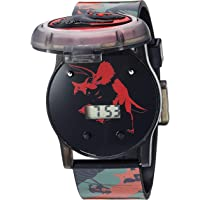 Disney Quartz Watch with Silicone Strap, Black, 23.9 (Model: JRW4006)