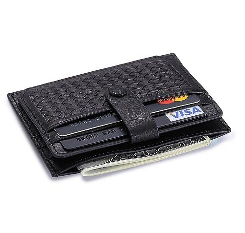 Cartera minimalista - Tarjetas, billetes y monedas en un mínimo espacio