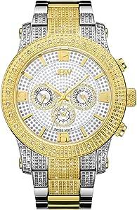 JBW Luxury Men's Lynx 80 Diamonds Multi-Function Swiss Movement Watch