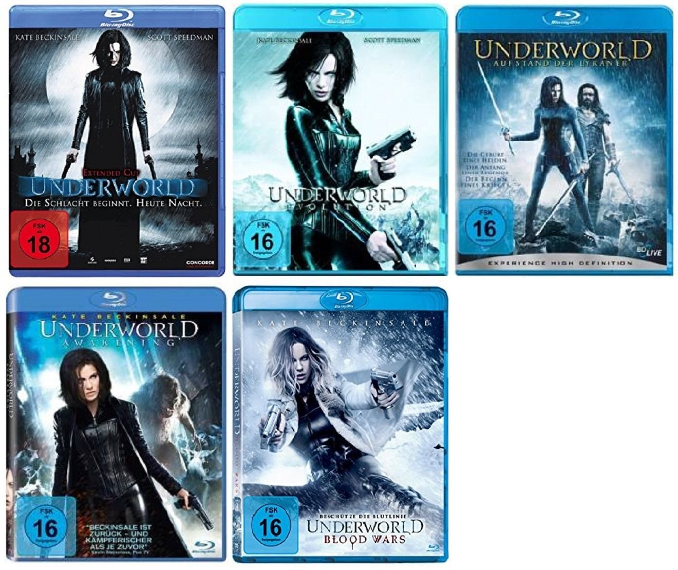Underworld 1-5 (Blu-Ray)