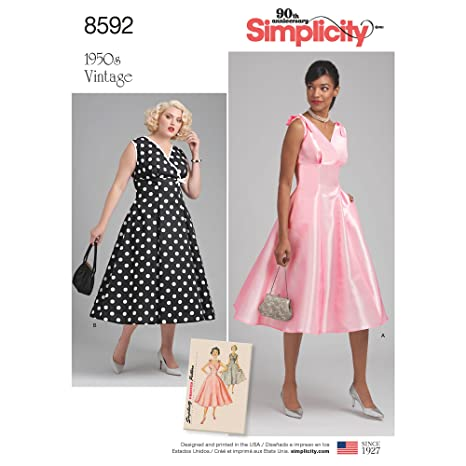 Amazon.com: Simplicity Creative Patterns US8592BB Sewing Dresses, BB (20W-28W): Arts, Crafts & Sewing
