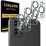 [Pacote com 3] Protetor de lente de câmera UniqueMe compatível com iPhone 12 Pro Max de 6,5 polegadas, [compatível com capas]
