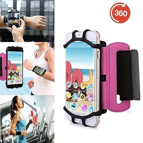 Outdoor Handy Schutzhülle | für Blackview BV5000 | Multifunktional Sport armband | zum Laufen, Joggen, Radfahren | SPO-3 Pink