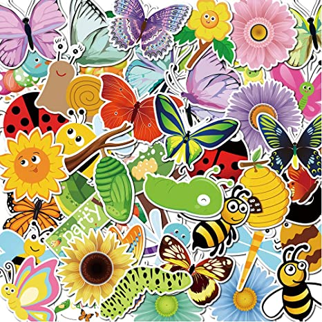 XDLEE Butterfly and Caterpillar Stickers