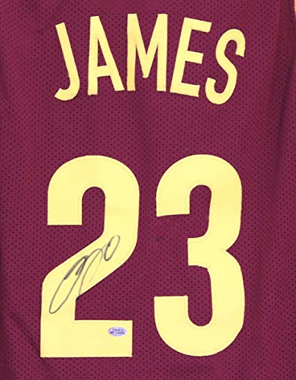 2c5edd376702 Lebron James Cleveland Cavaliers Cavs Signed Autographed Wine and Gold  23  Custom Jersey PAAS LOA