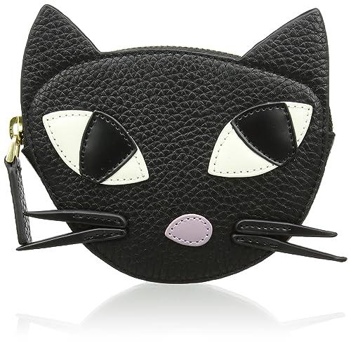 f7c3c177edaa4 Lulu Guinness Womens Kooky Cat Purse Black (Black)  Amazon.co.uk  Shoes    Bags