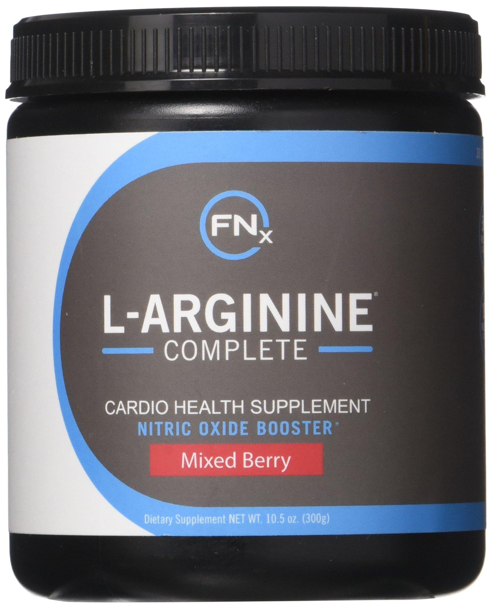 Fenix Nutrition - FNX L-Arginine Complete - Cardio Health Formula - Contains L-Citrulline - Enhance Effects Of Nitric Oxide - Secret Weapon For Libido - Mixed Berry - 3 Jars