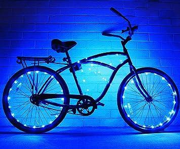 Luces LED para rueda de bicicleta par InnoBeta®, luz exterior Flexible y impermeable para los ...
