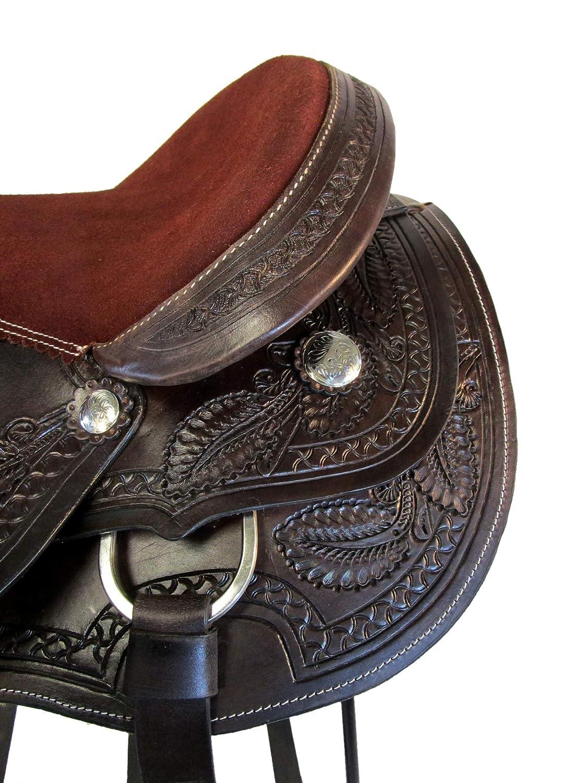Amazon.com : Orlov Hill Leather Co 15 16 17 Oak Leaf Tooled ...