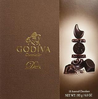 Godiva, Connoisseur bombones surtidos chocolate negro 18 piezas, 195g