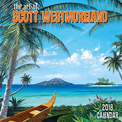 Amazon Com Hawaii 2018 Deluxe Wall Calendar The Art Of Scott