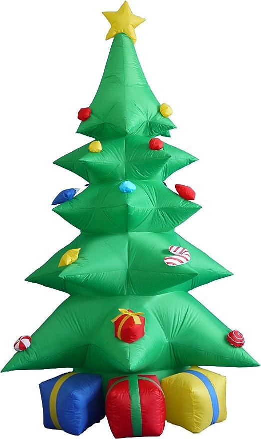 Amazon.com: 8 foot Verde Árbol de Navidad inflable con ...