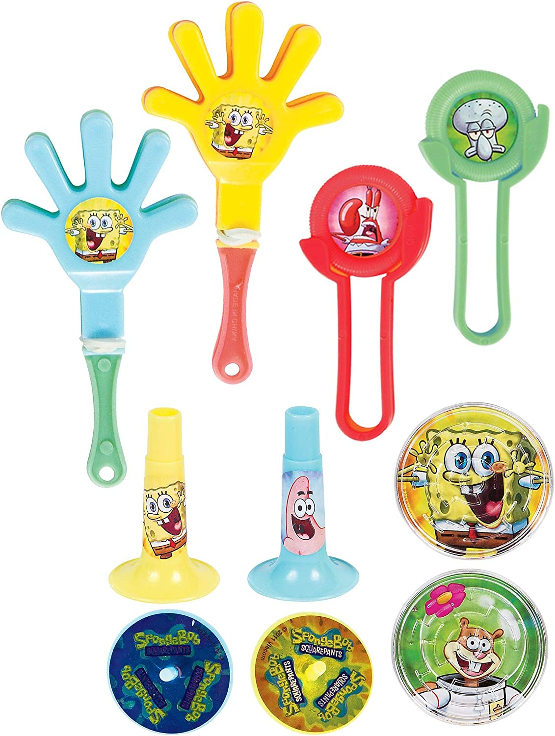 Amazon.com: Fun Relleno Bob Esponja Super Mega Mix Value Set ...