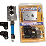 Rapidair 90200 Compressor Manifold Kit for 1/2-Inch Nylon Tubing
