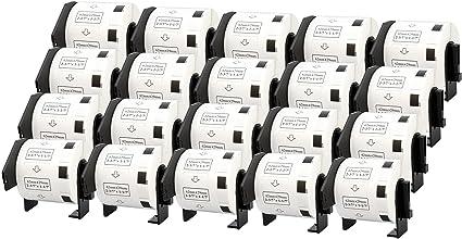 5 ROLLEN ETIKETTEN 62x100mm STANDARD für BROTHER P-touch QL-700 QL-710