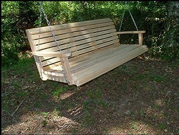 Gran 7 pies FT Cypress madera rollo Back porche