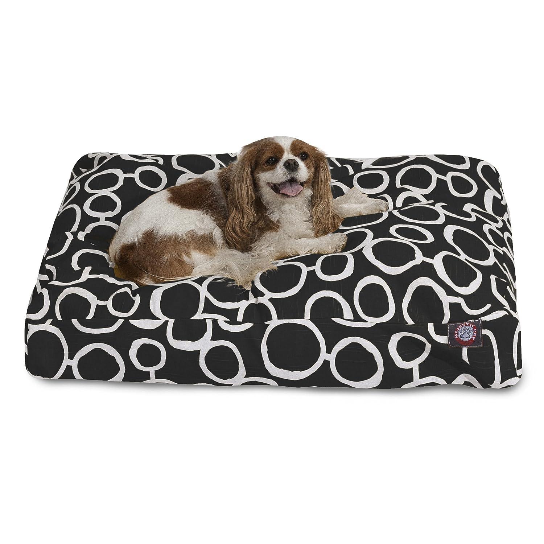 Black SmallMajestic Pet Fusion Black Small Rectangle Pet Bed