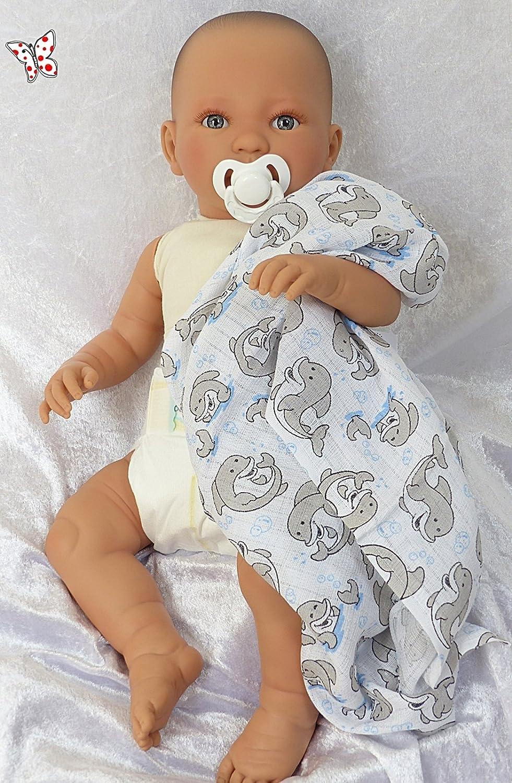 Doro Dolls Spielpuppe Leonie, 52cm Babypuppe mit Stoffkörper