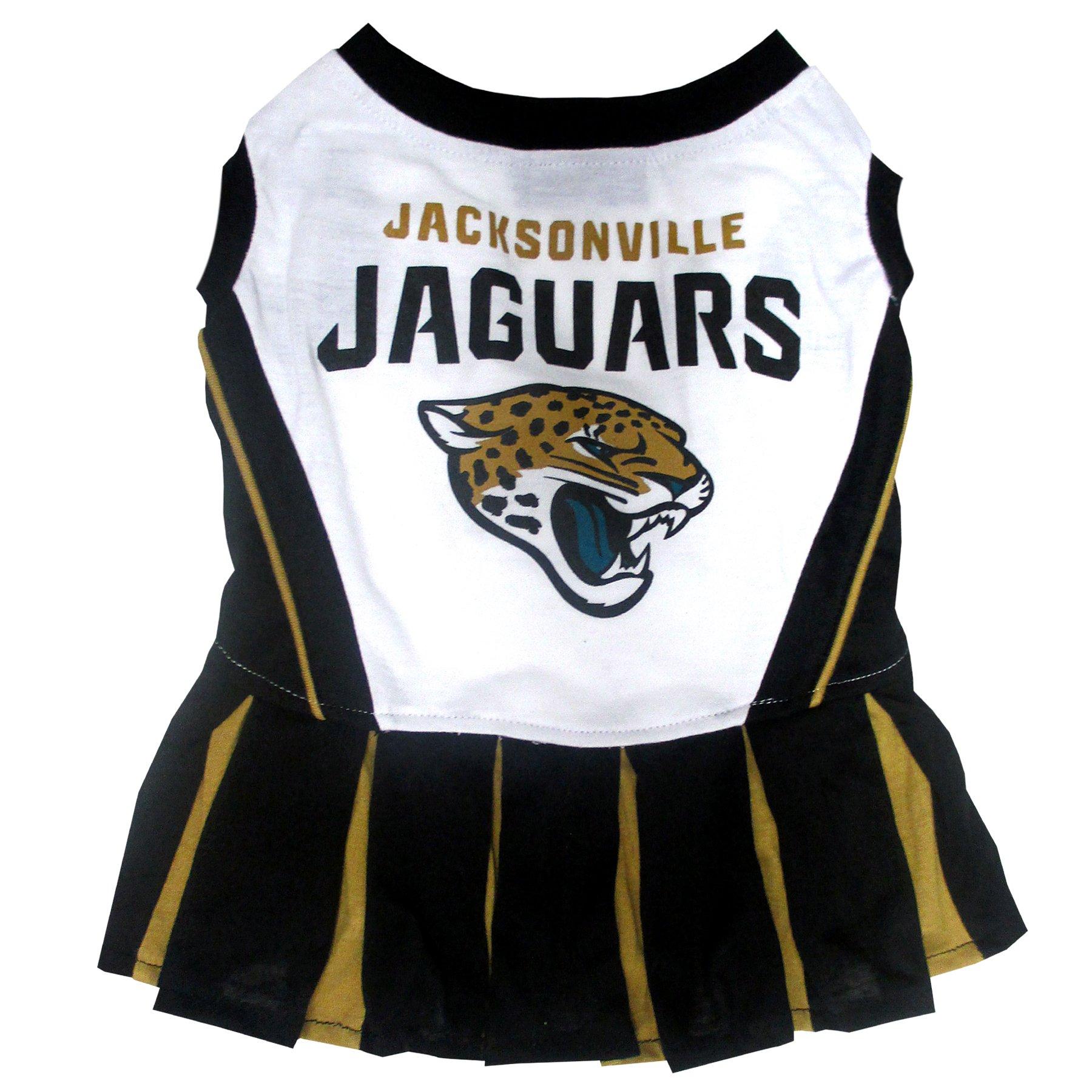 Jacksonville Jaguars NFL Cheerleader Dress For Dogs - Size Small