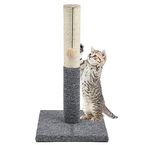 Akarden - Rascador para Gatos con Bola para Colgar, Mueble para ...