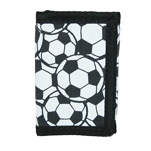 Amazoncom Ctm Kids Soccer Ball Print Trifold Wallet White Clothing