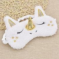 Fluffy Unicorn Sleeping Eye-Shade Travel Eye Mask Shade Cover
