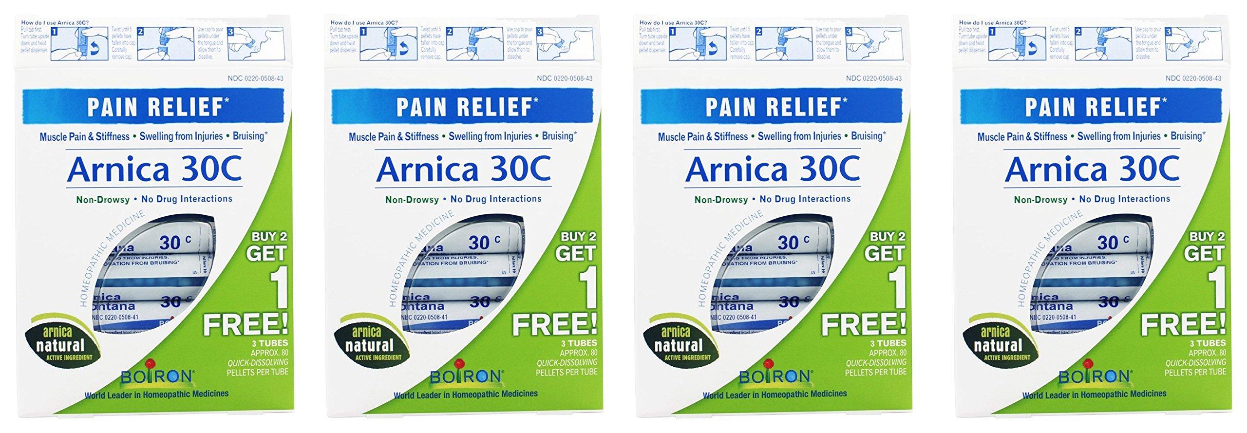 Boiron Arnica 30C Pellets (3 tubes per box) (Pack of 4)
