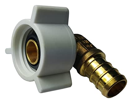 "3//4/"" PEX x 1/"" Male NPT Threaded Elbow Brass Crimp Fitting"