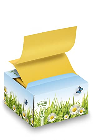 Post-it Recycled - Dispensador de Z-Notes (76 x 76 mm,