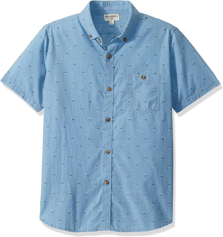 Billabong Boys Big Day Jacquard Short Sleeve Woven Shirt