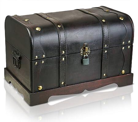 Exceptionnel Brynnberg XL Wooden Pirate Treasure Chest   Decorative Storage Box Model  U0027Columbus Grandeu0027  