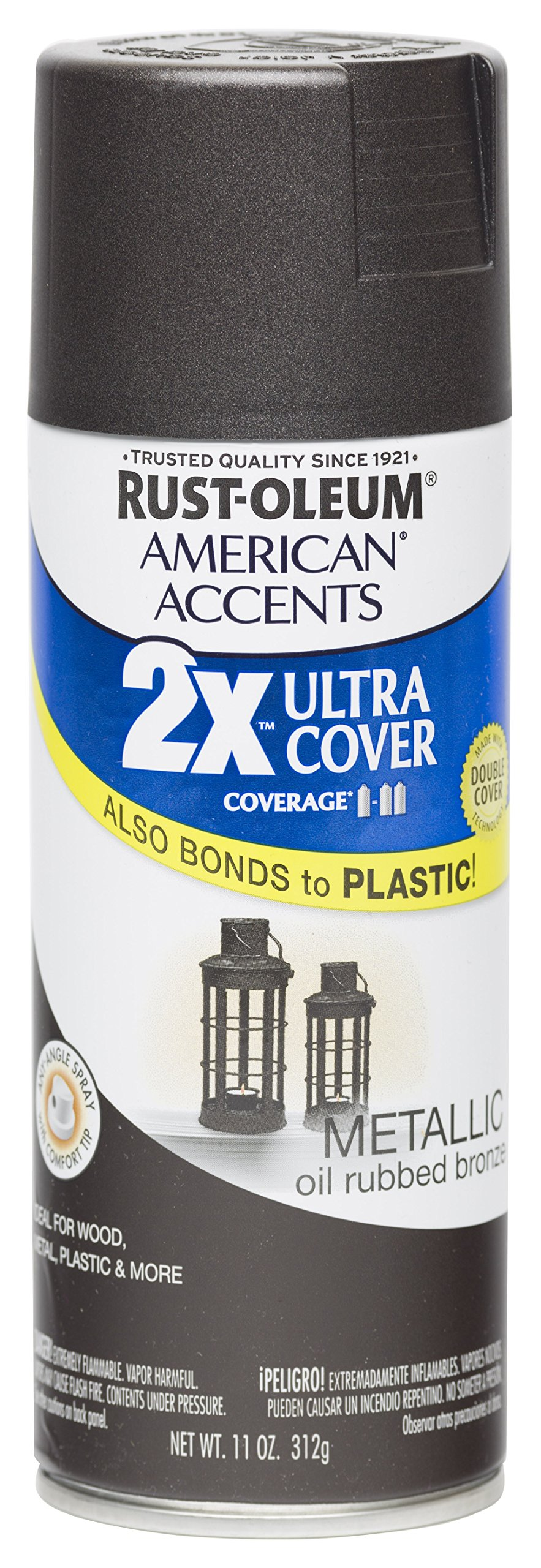 Rust Oleum 280685 American Accents Ultra Cover 2X Spray Paint, Oil Rubbed Bronze, 11-Ounce