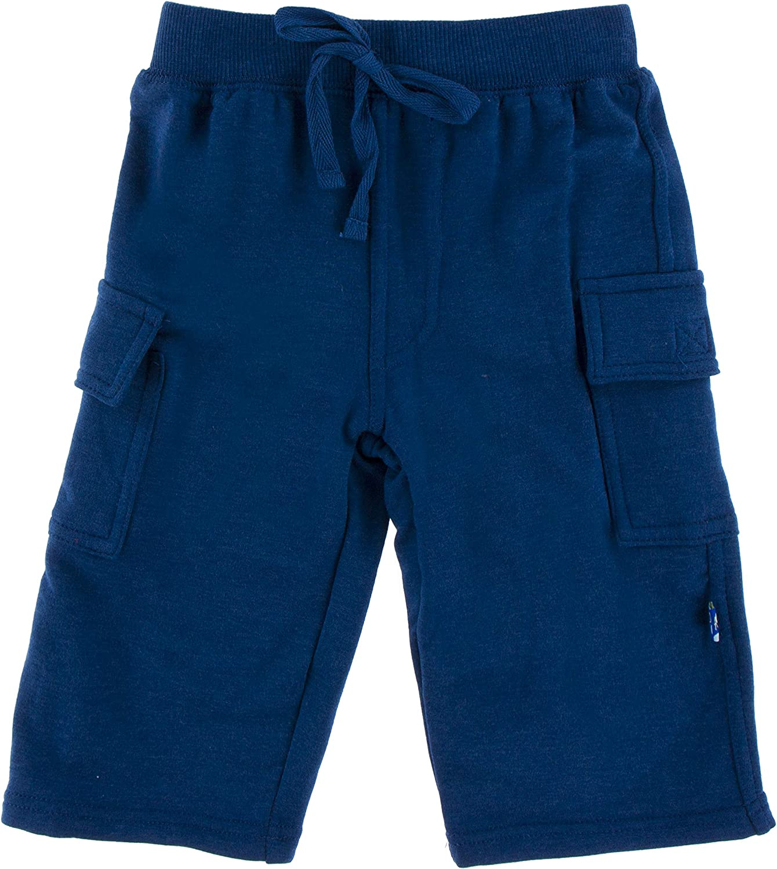 KicKee Pants Fleece Cargo Sweatpant in Navy 12-18 Months