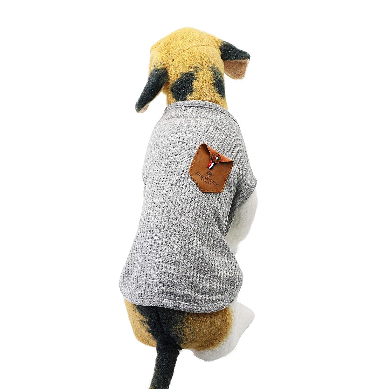 100/% Algod/ón para Mini Perros Perros Peque/ños y Gatos XL-Schnauzer y Corgi Im/ágenes, Azul y Gris Ropa para Perros 2 Paquetes YAODHAOD Camiseta Minimalista para Perros Azul y Gris