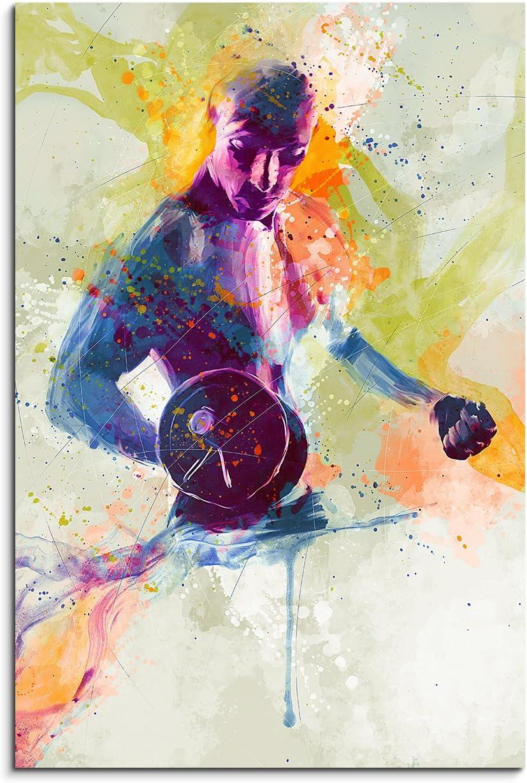 Culturiste 90/x 60/cm D/écoration murale Sport image Aquarelle Art Couleurs de Paul Sinus