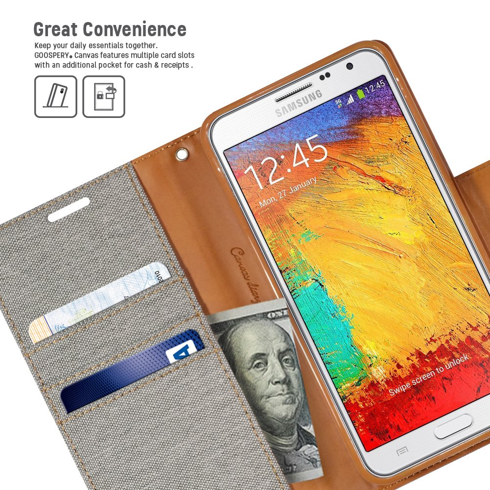 Mercury Goospery Canvas Diary Case For Samsung Galaxy E7 Navy Grand Prime Green Amazoncom Note 3 Drop Protection