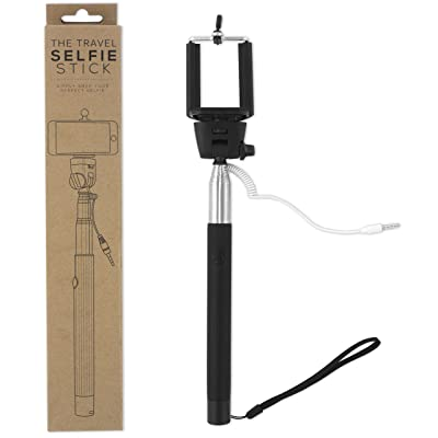 Selfie Stick #1 Newest & Most Durable Selfie Stick By the Travel Selfie Stick - Self-portrait Monopod for Iphone 6 6 Plus 5 5c 5s Samsung Galaxy S4 S5 S6 Note 4 3 with Built in Remote Shutter - Battery Free - No Bluetooth (Black)