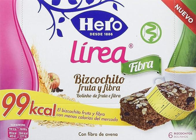 Hero Muesly Línea Bizcochito Fruta y Fibra - 8 Paquetes de 6 x 32.50 gr -