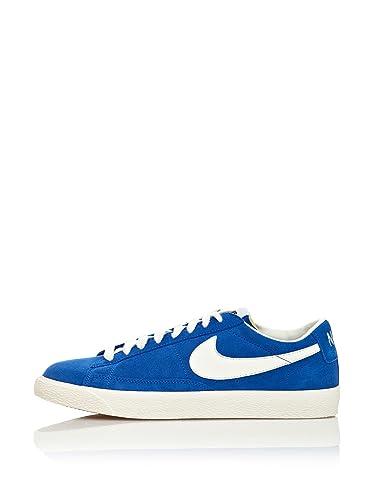 NIKE Men s Blazer Low Premium Vintage Suede Low Blue Size  6 UK   Amazon.co.uk  Shoes   Bags 3016caa57