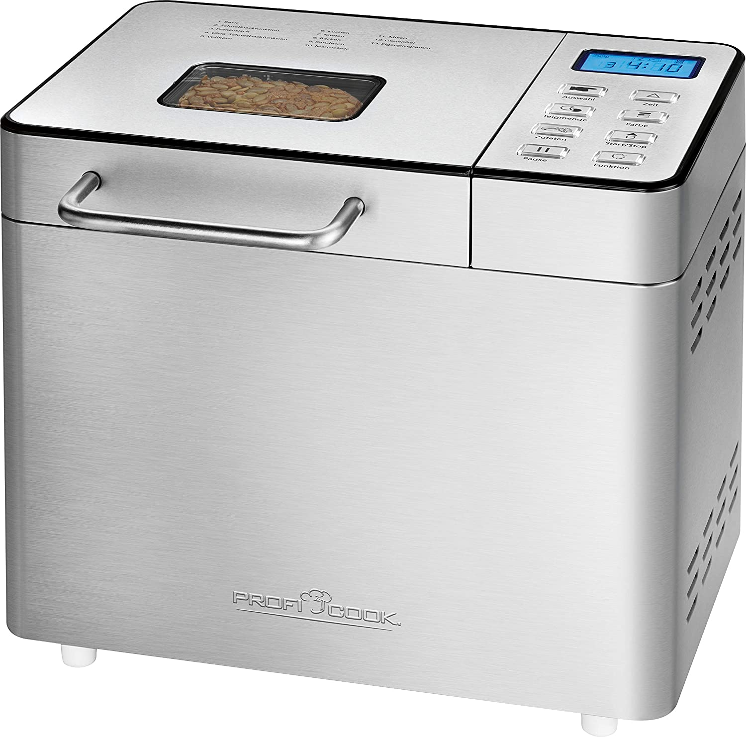 Profi Cook Brotbackautomat PC-BBA 1077 acero fino: Amazon.es: Hogar
