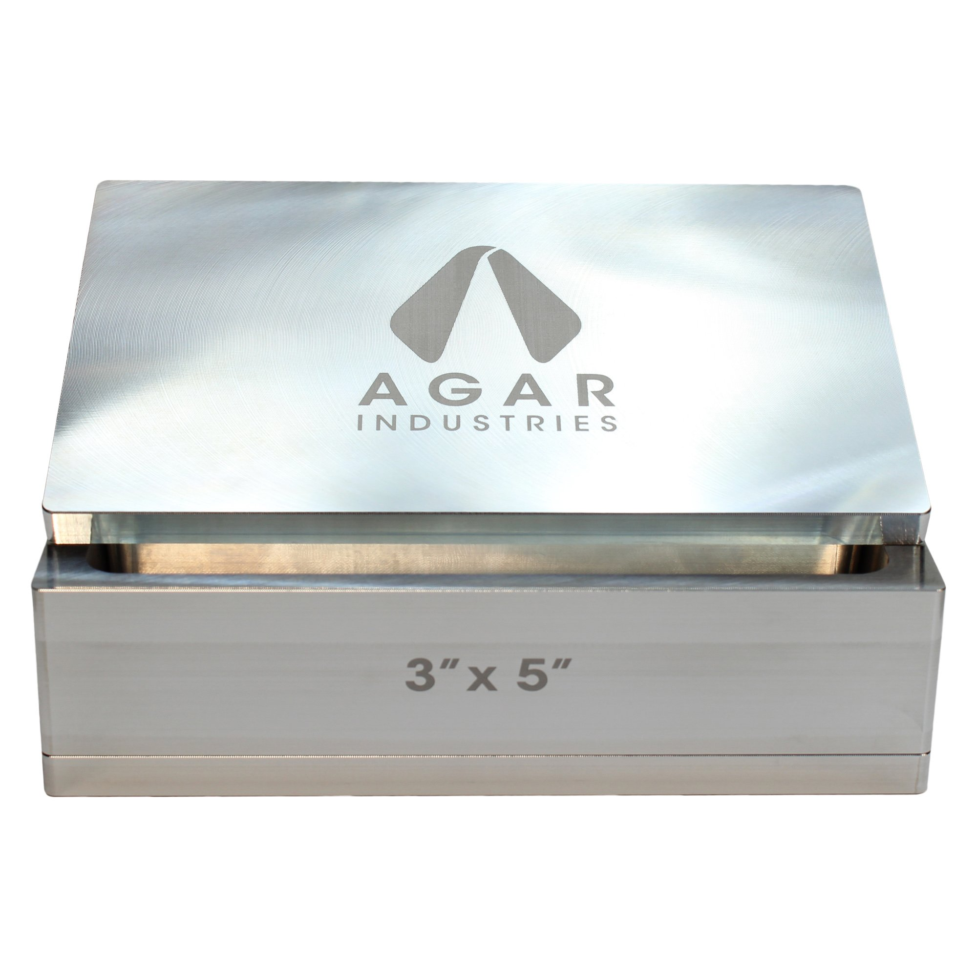 Agar Industries Rosin Pre Press Mold for DIY Solventless Extraction & Pressing - 3'' x 5'' by Agar Industries