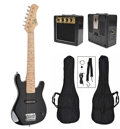 ts-ideen - Guitarra eléctrica sunburst infantil de 1/4 (4-8