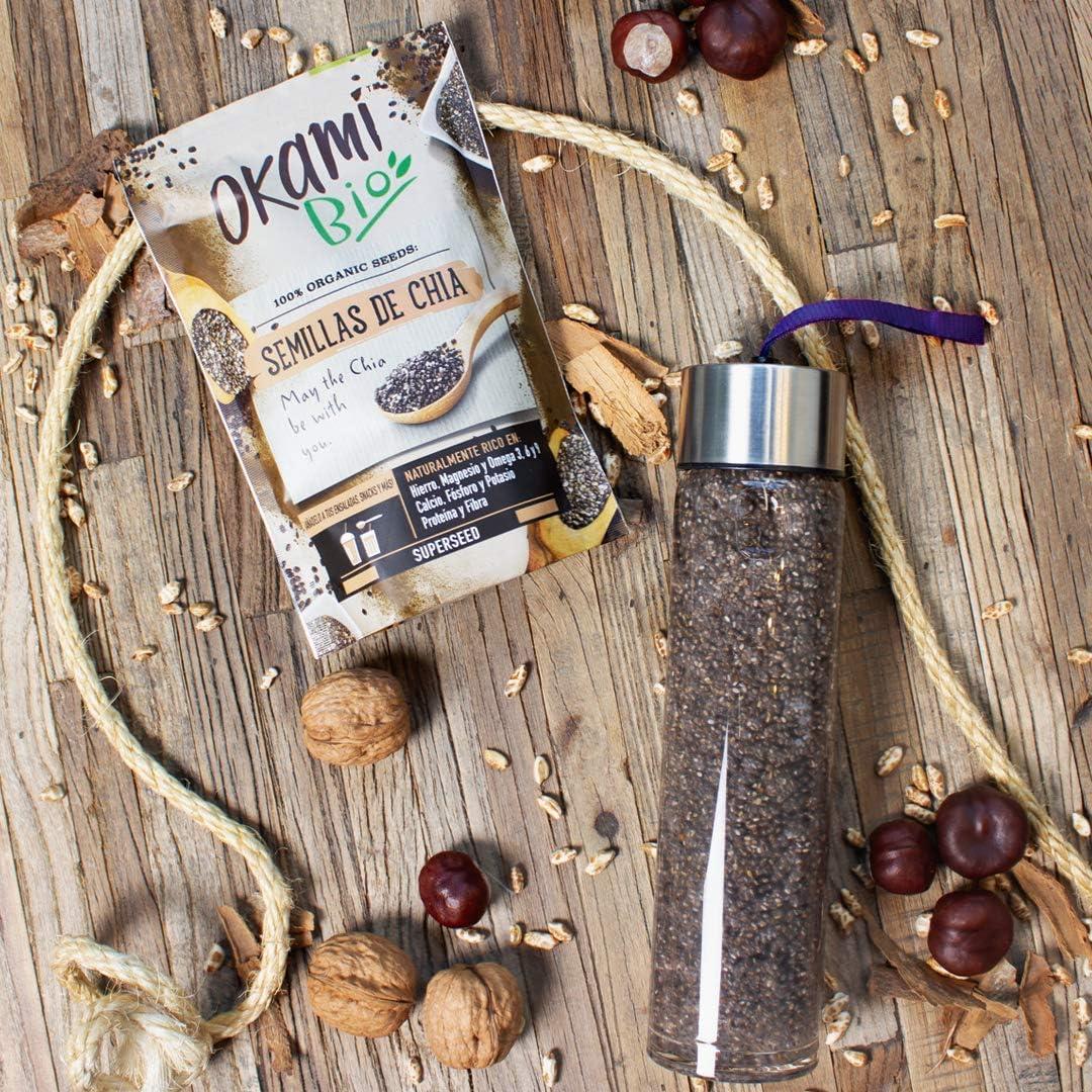 Okami Bio | Semillas de Chia | 100% Orgánico | Vegano | Superalimento | Alto contenido de Fibras| Antioxidantes | Proteinas | Para darle el impulso perfecto a tu día | 250gr.: Amazon.es: Salud y cuidado personal