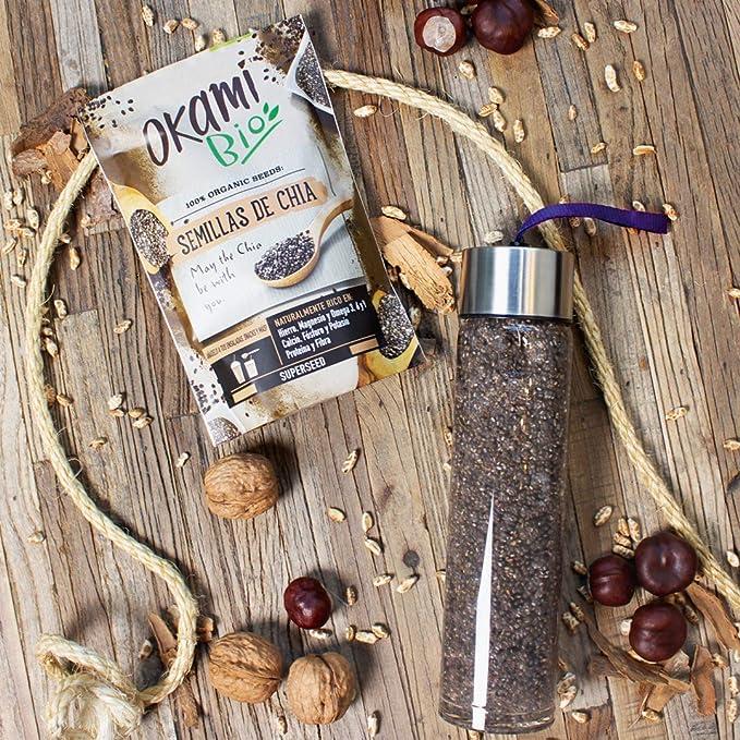 Okami Bio | Semillas de Chia | 100% Orgánico | Vegano | Superalimento | Alto contenido de Fibras| Antioxidantes | Proteinas | Para darle el impulso ...