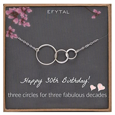 Amazon EFYTAL 30th Birthday Gifts For Women Sterling Silver