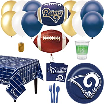 e27f1b16 Amazon.com: Los Angeles Rams Football Decoration 66pc Party Pack ...