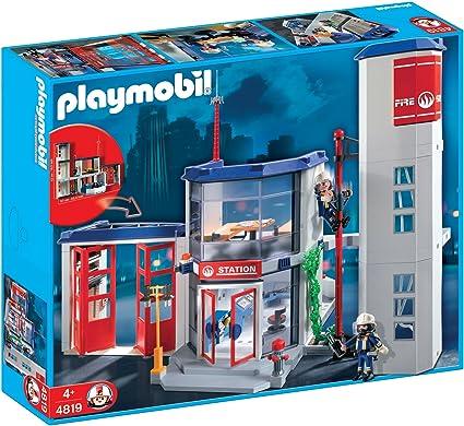 Amazon.com: Playmobil estación de bomberos: Toys & Games